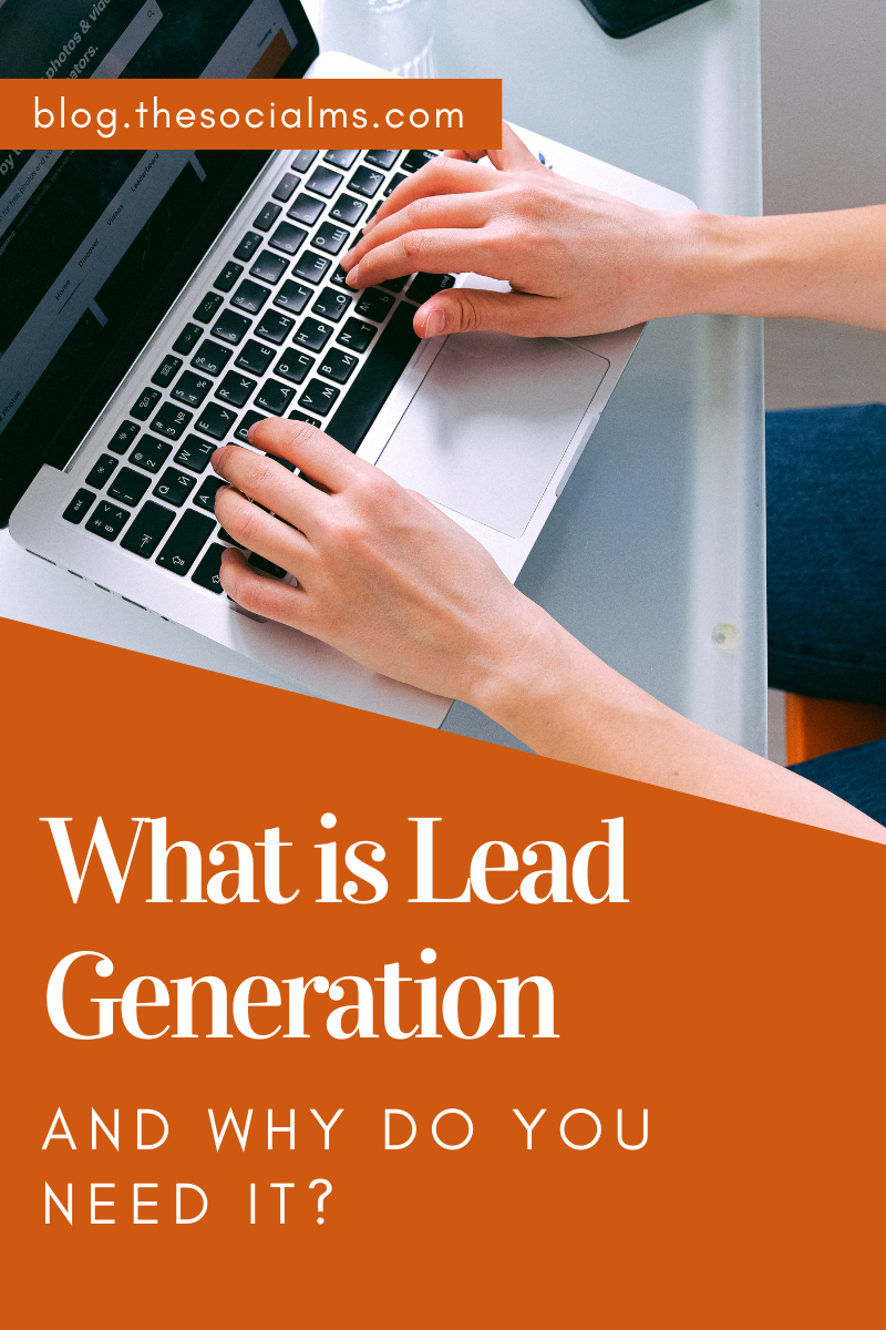 Generating leads is a crucial step in your online business. Lead generation turns website visitors into prospects - and eventually help you make a sale. Here is what you need to know about lead generation for online businesses. #leadgeneration #generateleads #salesfunnel #listbuilding
