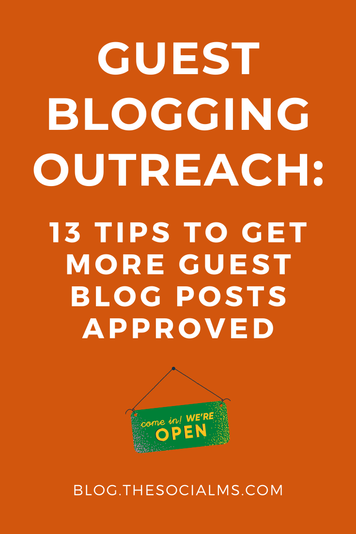 Guest blogging is a great strategy to grow your audience, earn backlinks and build your reputation as an expert. But becoming a published guest author can be tricky. Learn how to get your guest blogging outreach right - and get more guest posts approved. #guestblogging #guestbloggingoutreach #guestblogpost #guestposting