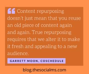 quote content repurposing garrett moon