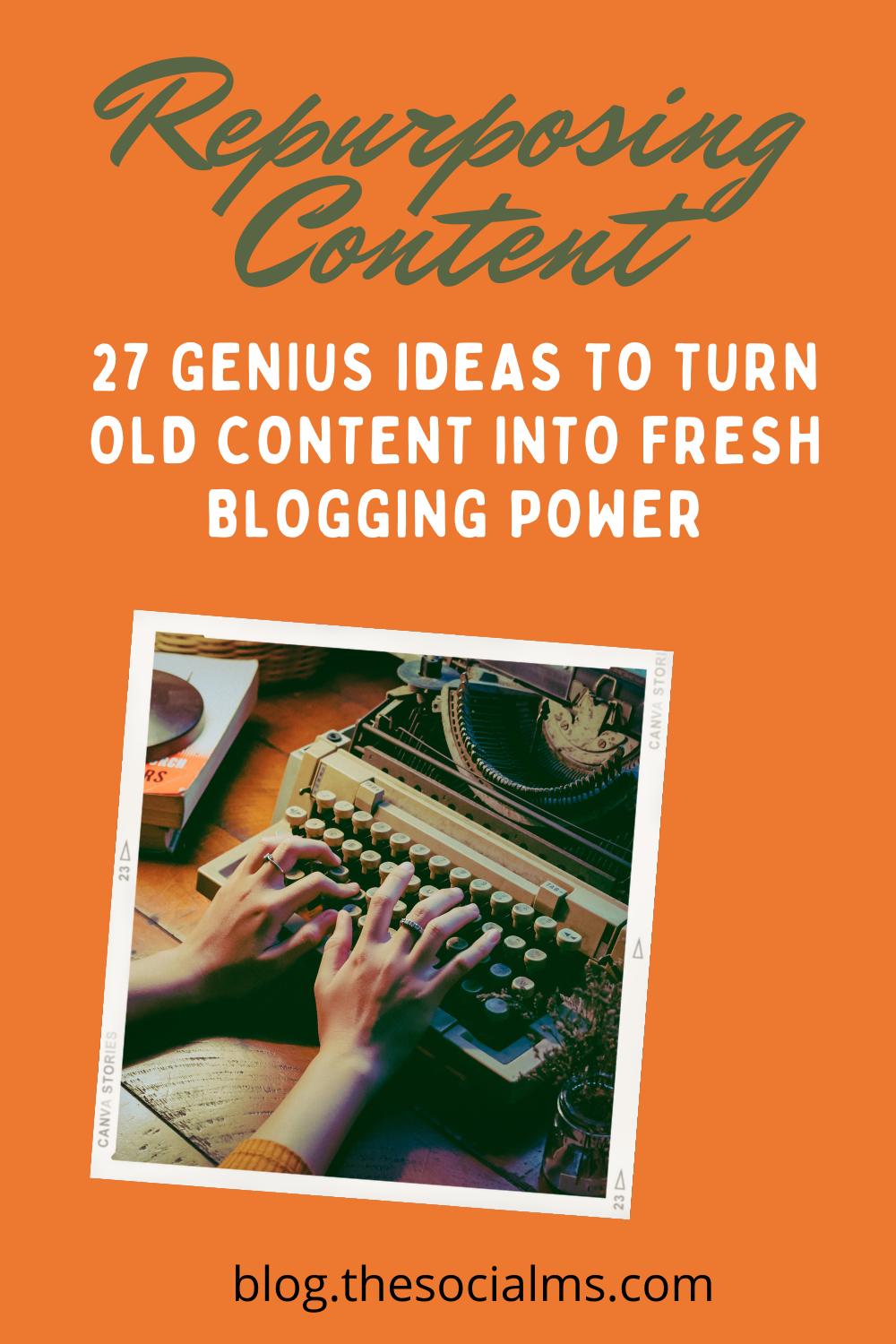 Repurposing content can bring new life and new traffic to content that you already have and that aged over time. Repurposing content can also save you a ton of time and frustration in your blog content creation. #contentcreation #bloggingtips #contentmarketing