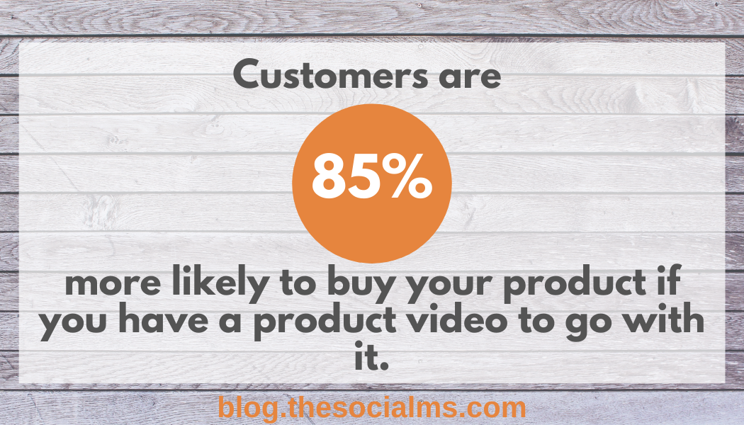 customers are more likely to buy your product if you have a product video